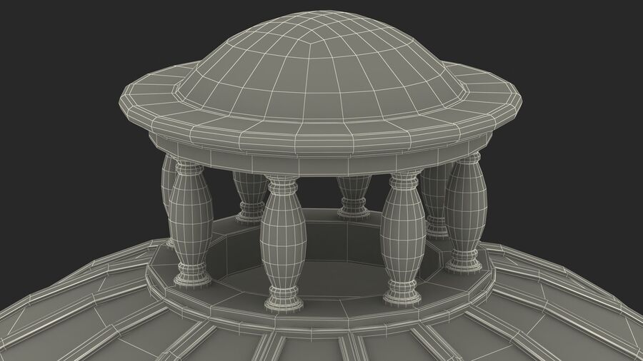 Antique Marble Dome royalty-free 3d model - Preview no. 22