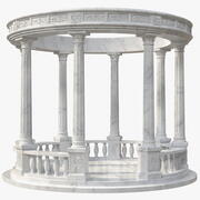 Marble Round Colonnade 3d model
