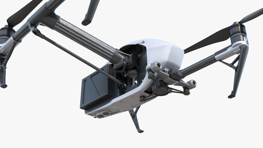 DJI Inspire 2 Quadcopter Drone royalty-free 3d model - Preview no. 9