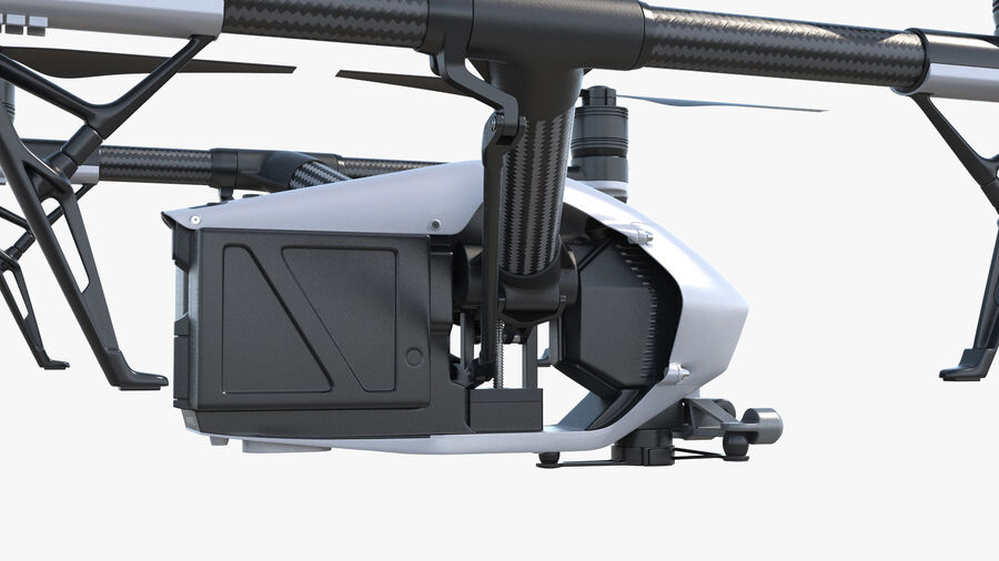 DJI Inspire 2 Quadcopter Drone royalty-free 3d model - Preview no. 10