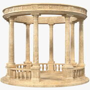 Stone Round Colonnade 3d model