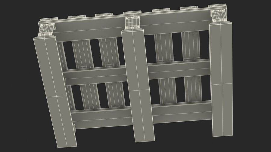 Wooden EPAL Euro 7 Half Pallet royalty-free 3d model - Preview no. 24