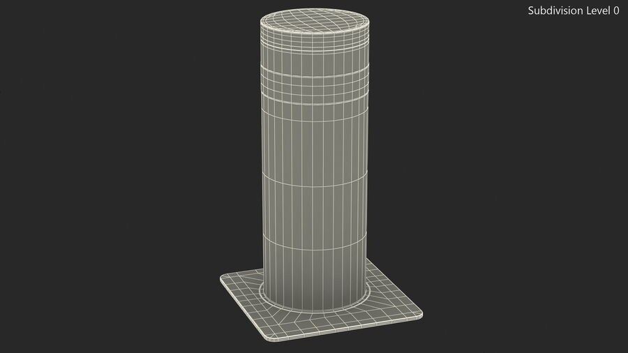 Retractable Security Bollard royalty-free 3d model - Preview no. 14