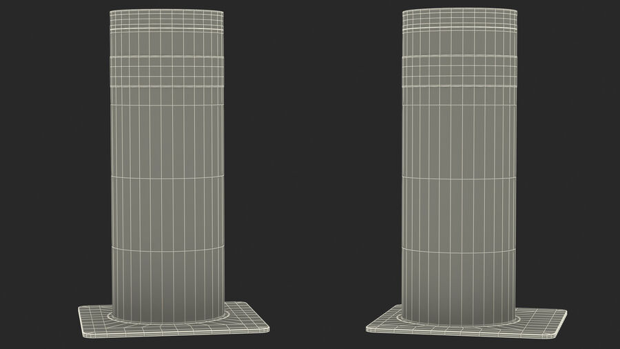 Retractable Security Bollard royalty-free 3d model - Preview no. 19
