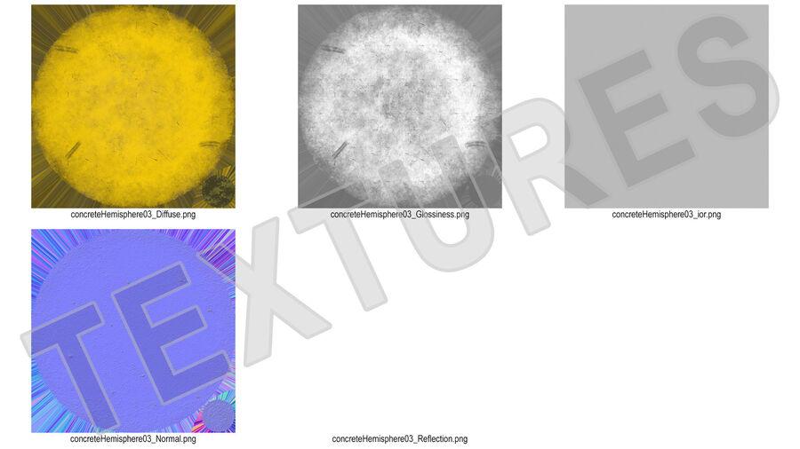 Car Blocker Yellow Concrete Hemisphere royalty-free 3d model - Preview no. 14