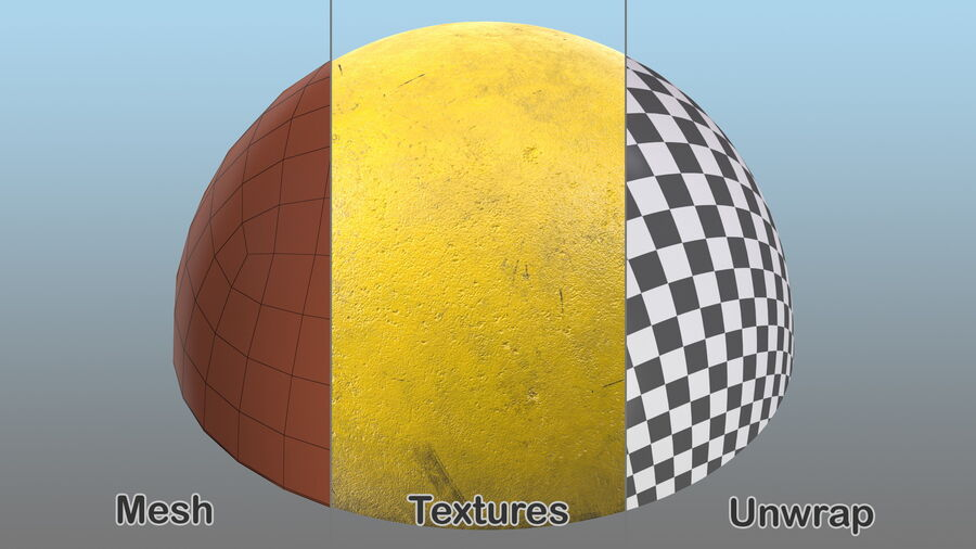 Car Blocker Yellow Concrete Hemisphere royalty-free 3d model - Preview no. 10