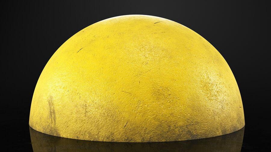 Car Blocker Yellow Concrete Hemisphere royalty-free 3d model - Preview no. 5
