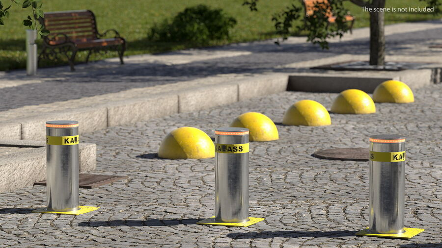 Kavass Automatic Retractable Bollard royalty-free 3d model - Preview no. 4