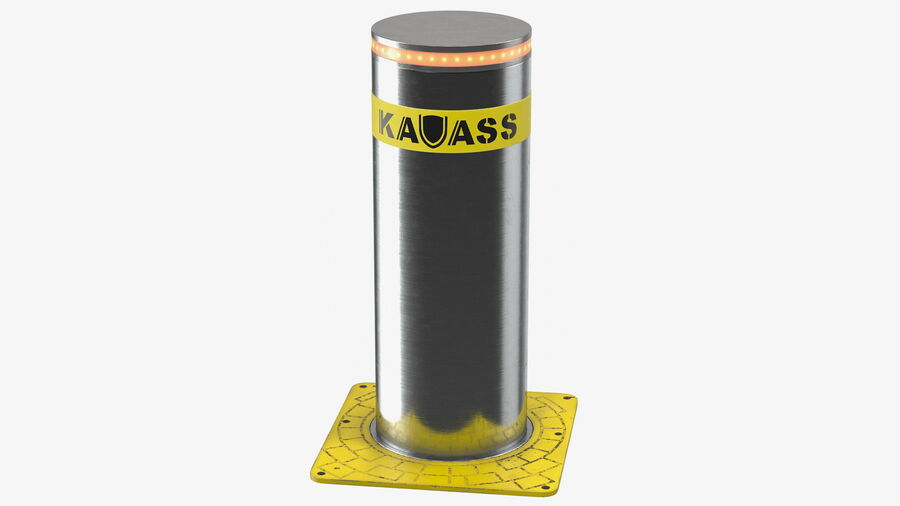 Kavass Automatic Retractable Bollard royalty-free 3d model - Preview no. 2