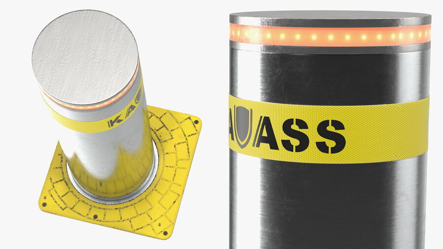Kavass Automatic Retractable Bollard royalty-free 3d model - Preview no. 7