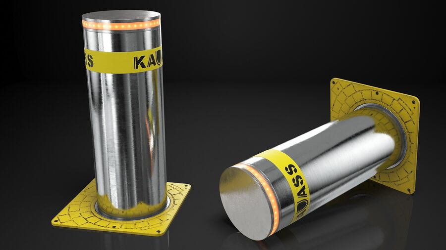 Kavass Automatic Retractable Bollard royalty-free 3d model - Preview no. 3