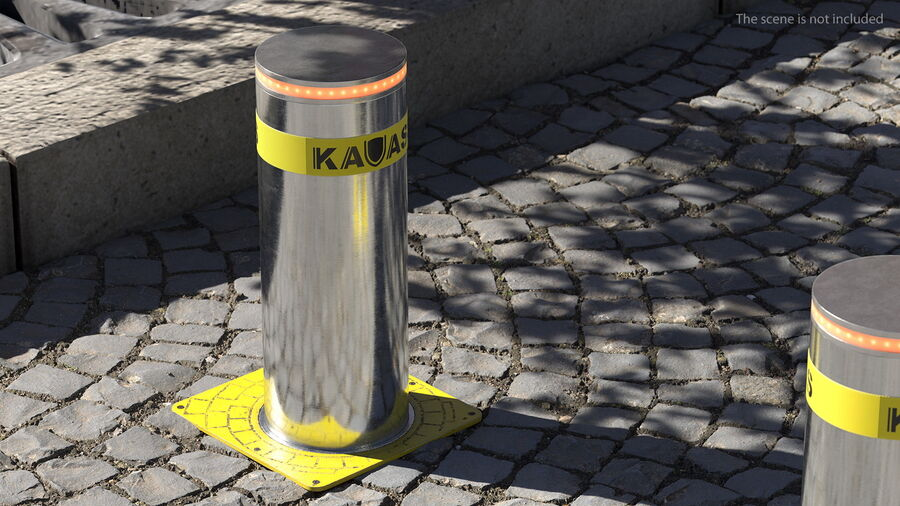 Kavass Automatic Retractable Bollard royalty-free 3d model - Preview no. 5