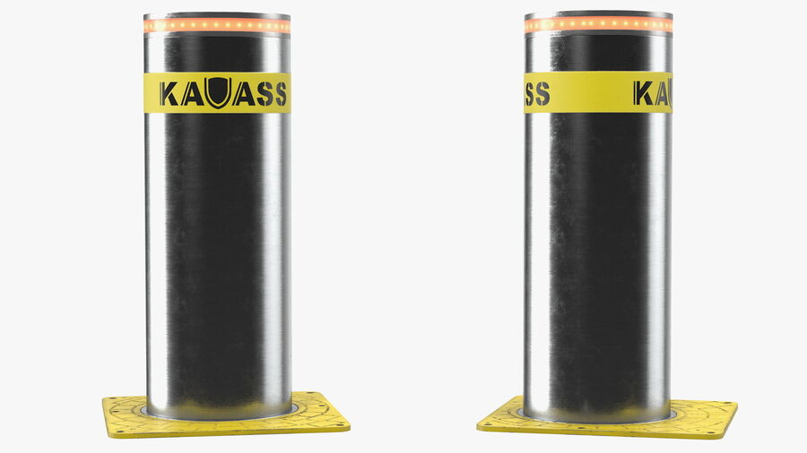 Kavass Automatic Retractable Bollard royalty-free 3d model - Preview no. 6