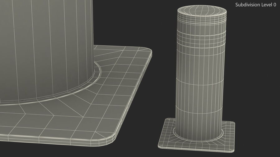 Kavass Automatic Retractable Bollard royalty-free 3d model - Preview no. 13