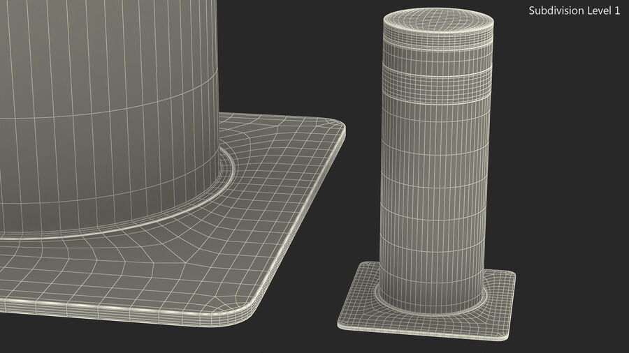 Kavass Retractable Security Bollard royalty-free 3d model - Preview no. 14