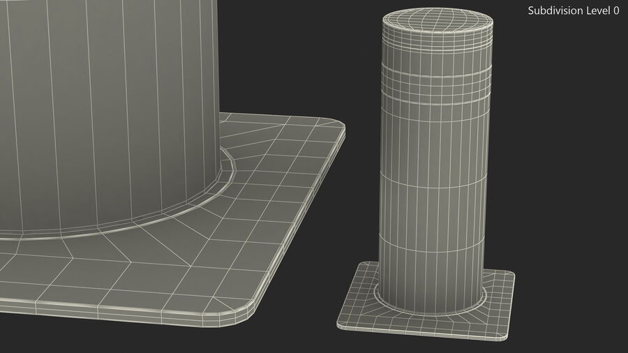 Kavass Retractable Security Bollard royalty-free 3d model - Preview no. 13