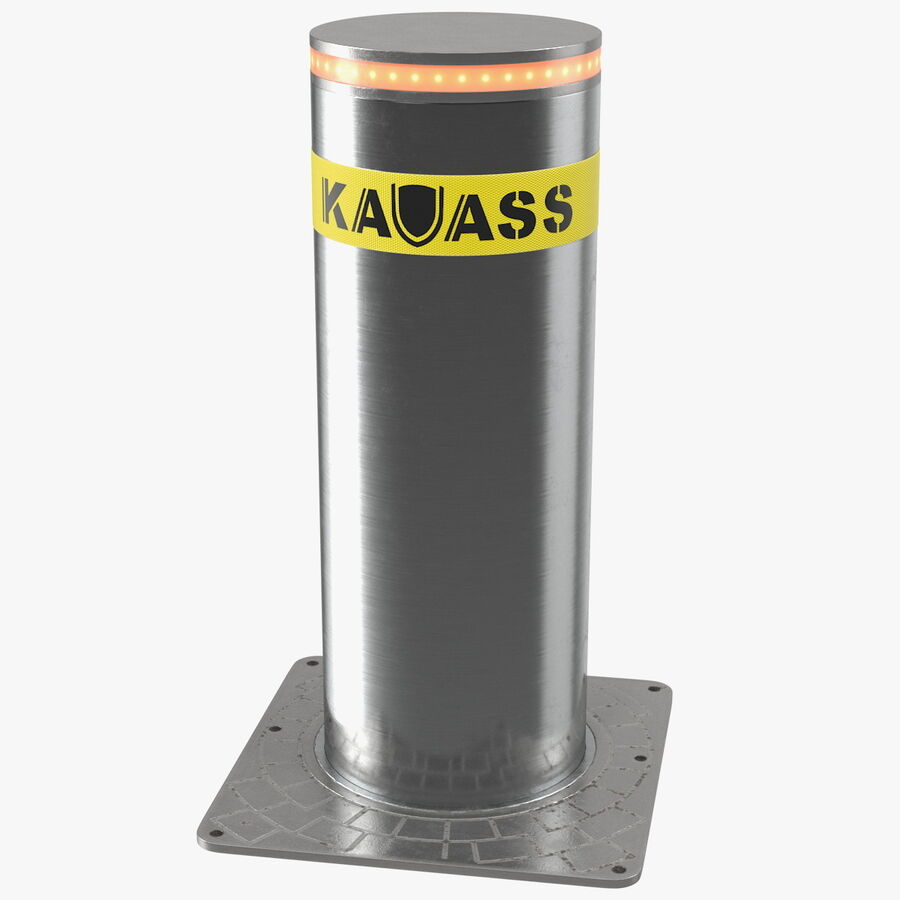 Kavass Retractable Security Bollard royalty-free 3d model - Preview no. 1