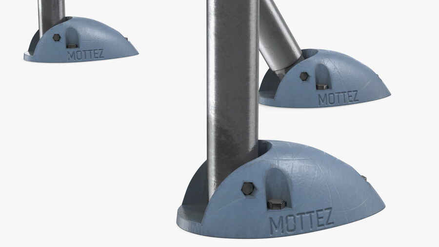Mottez Folding Parking Barrier Rigged royalty-free 3d model - Preview no. 15