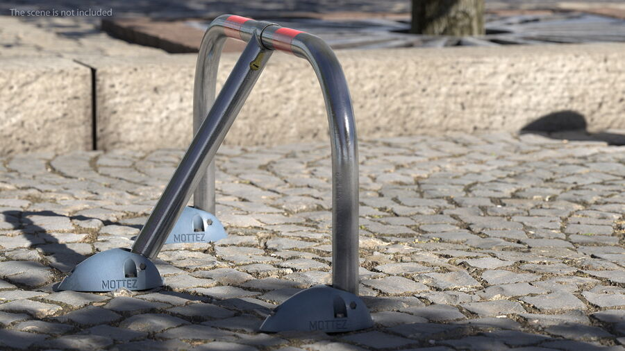 Mottez Folding Parking Barrier Rigged royalty-free 3d model - Preview no. 4