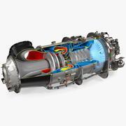 PT6C-67C涡轮轴片发动机 3d model