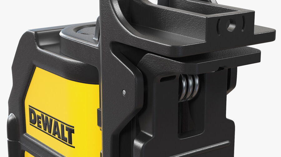 Livella laser a linee incrociate Dewalt DW088K royalty-free 3d model - Preview no. 14