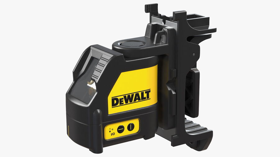 Livella laser a linee incrociate Dewalt DW088K royalty-free 3d model - Preview no. 2