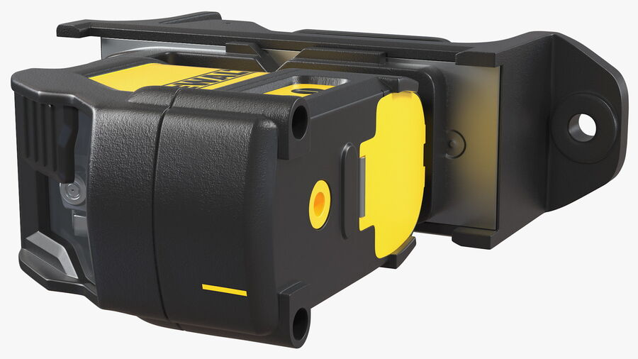 Livella laser a linee incrociate Dewalt DW088K royalty-free 3d model - Preview no. 12