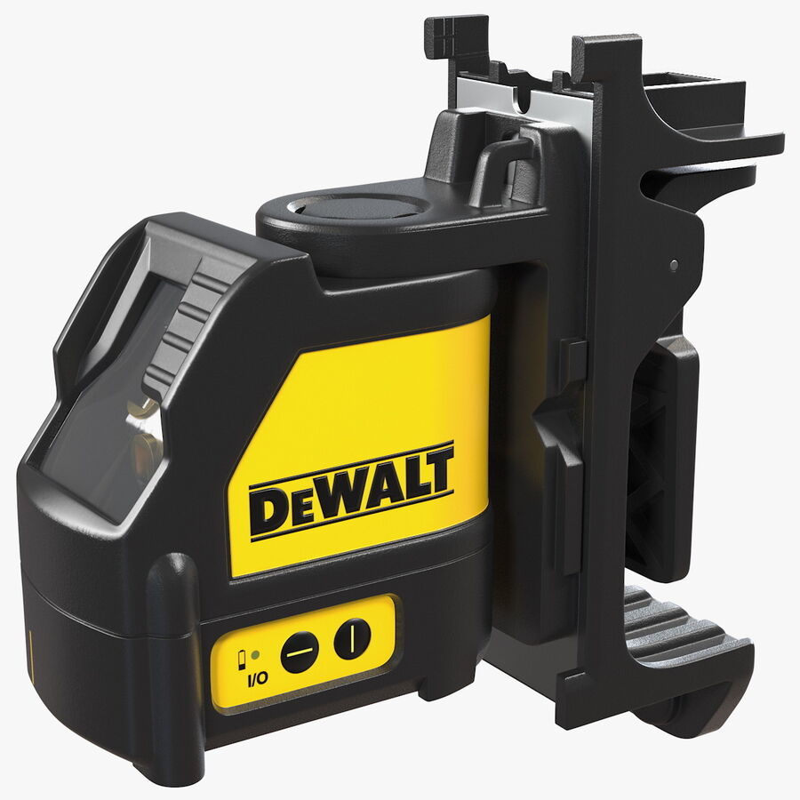 Livella laser a linee incrociate Dewalt DW088K royalty-free 3d model - Preview no. 1