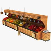 Ausstellungsstand für Obst und Gemüse 03 3d model