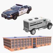 Coleção Policial 3d model