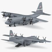Lockheed C-130 Hercules aereo da trasporto militare statunitense 3d model