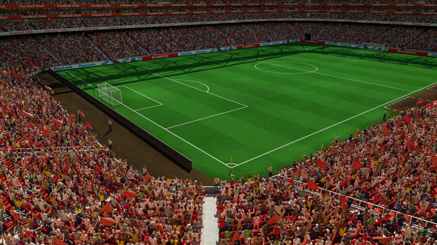 Football Field 03 royalty-free 3d model - Preview no. 1