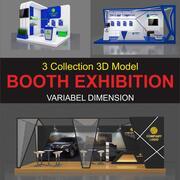 Coleção de 3 estandes 3d model