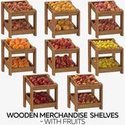 과일 나무 상품 선반 3d model
