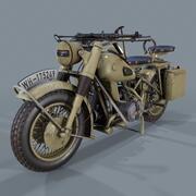 German motorcycle WW2 3d model