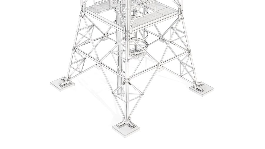 Radio Mast - Torre de Comunicação Antena royalty-free 3d model - Preview no. 22
