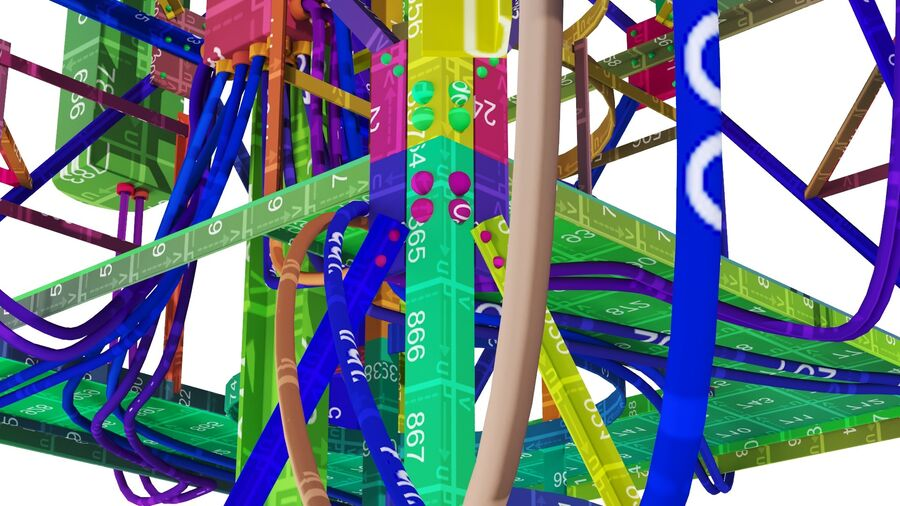 Radio Mast - Torre de Comunicação Antena royalty-free 3d model - Preview no. 26