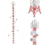 Radio Mast - Antenne Communicatie Toren 3d model