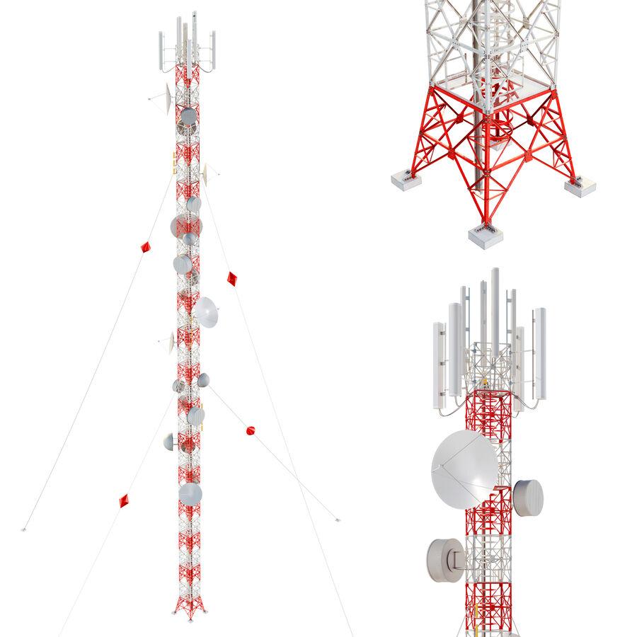 Radio Mast - Torre de Comunicação Antena royalty-free 3d model - Preview no. 1