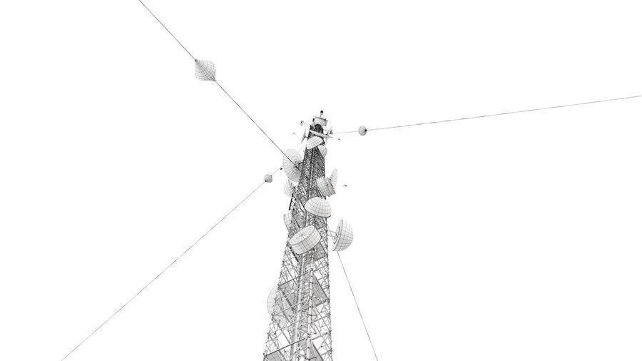 Radio Mast - Torre de Comunicação Antena royalty-free 3d model - Preview no. 20