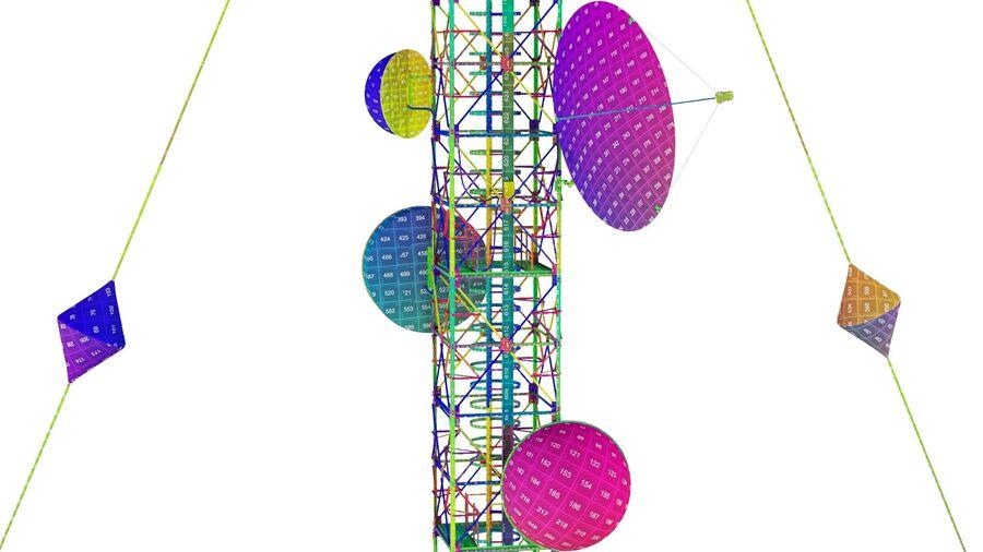 Radio Mast - Torre de Comunicação Antena royalty-free 3d model - Preview no. 27