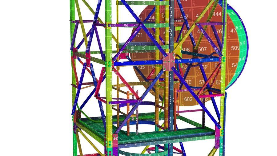 Radio Mast - Torre de Comunicação Antena royalty-free 3d model - Preview no. 28