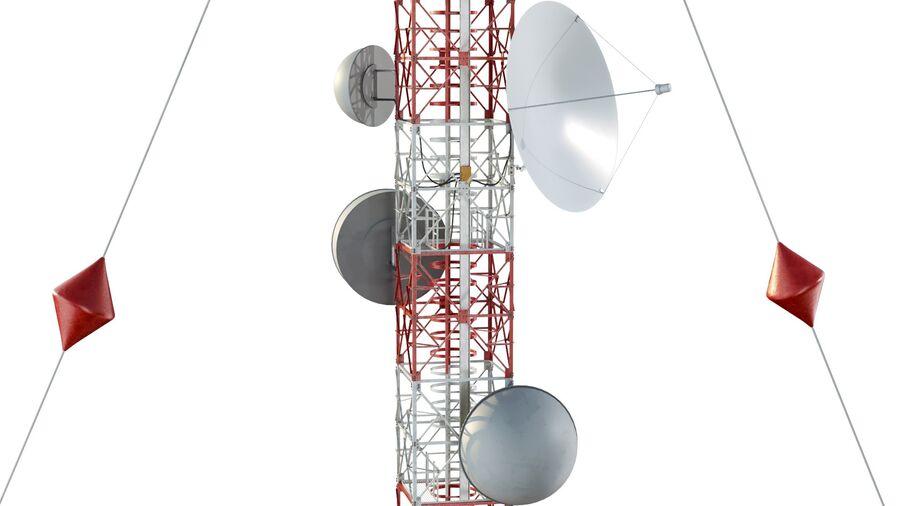 Radio Mast - Torre de Comunicação Antena royalty-free 3d model - Preview no. 13