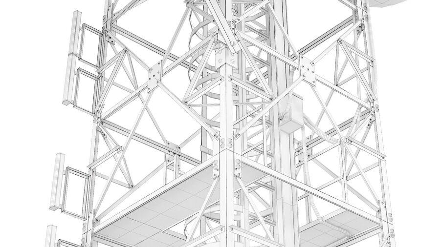 Radio Mast - Torre de Comunicação Antena royalty-free 3d model - Preview no. 18