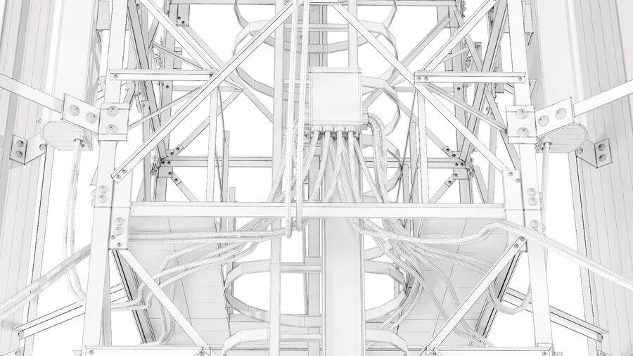Radio Mast - Torre de Comunicação Antena royalty-free 3d model - Preview no. 19