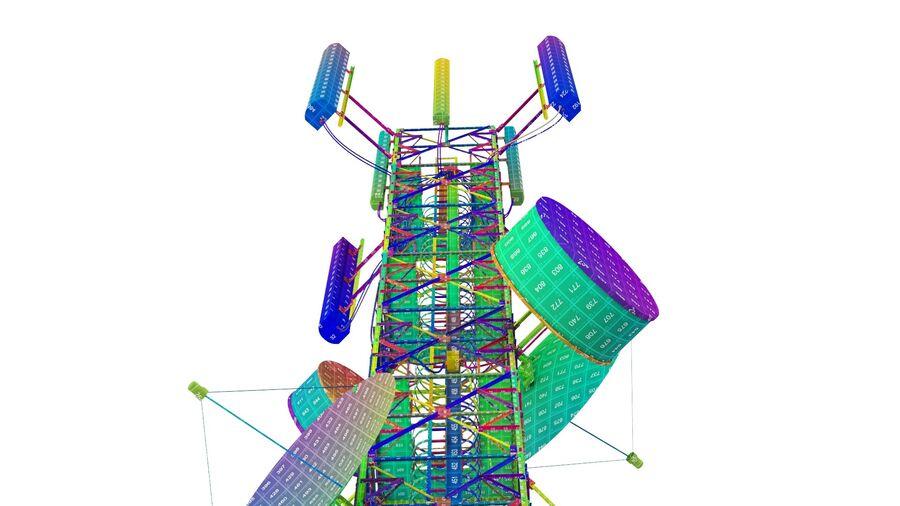 Radio Mast - Torre de Comunicação Antena royalty-free 3d model - Preview no. 23