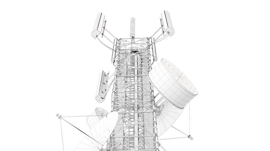 Radio Mast - Torre de Comunicação Antena royalty-free 3d model - Preview no. 21