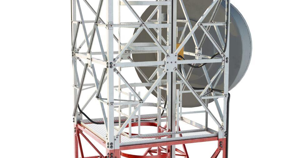 Radio Mast - Torre de Comunicação Antena royalty-free 3d model - Preview no. 12
