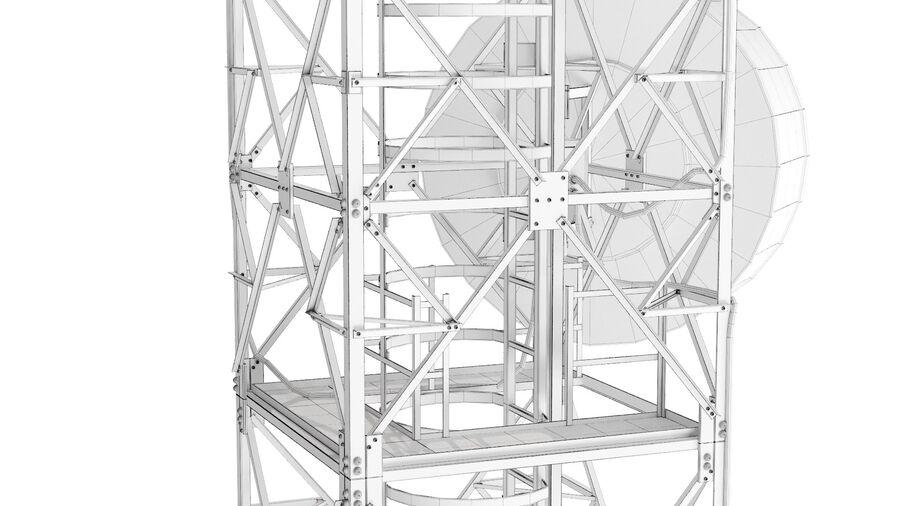 Radio Mast - Torre de Comunicação Antena royalty-free 3d model - Preview no. 17
