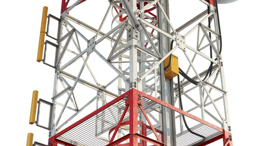 Radio Mast - Torre de Comunicação Antena royalty-free 3d model - Preview no. 11